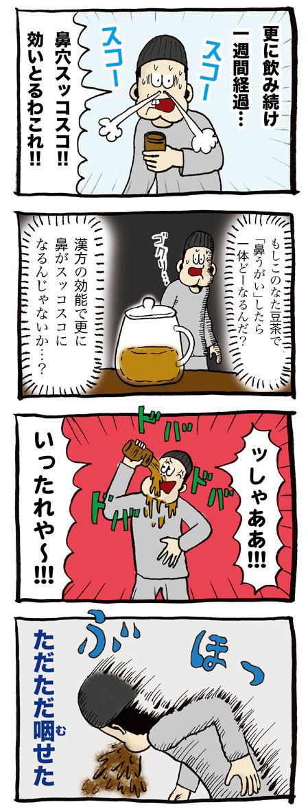 鼻炎の男がなた豆茶を飲んだ結果