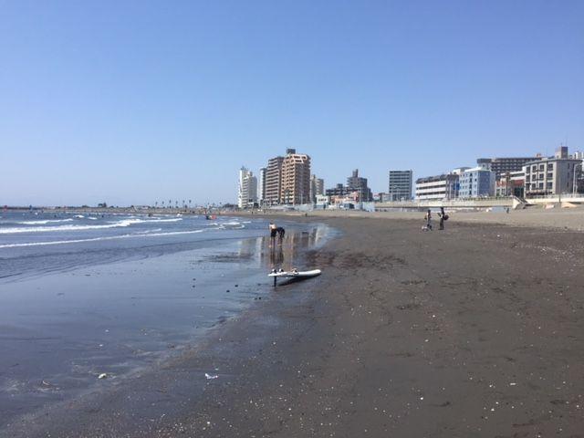 湘南の浜辺