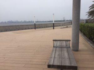 東京湾が一望できる素晴らしいスペースです。